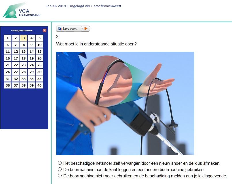 VCA examen bestellen